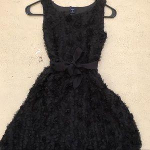 GapKids Girl's Black Rosette Formal Dress